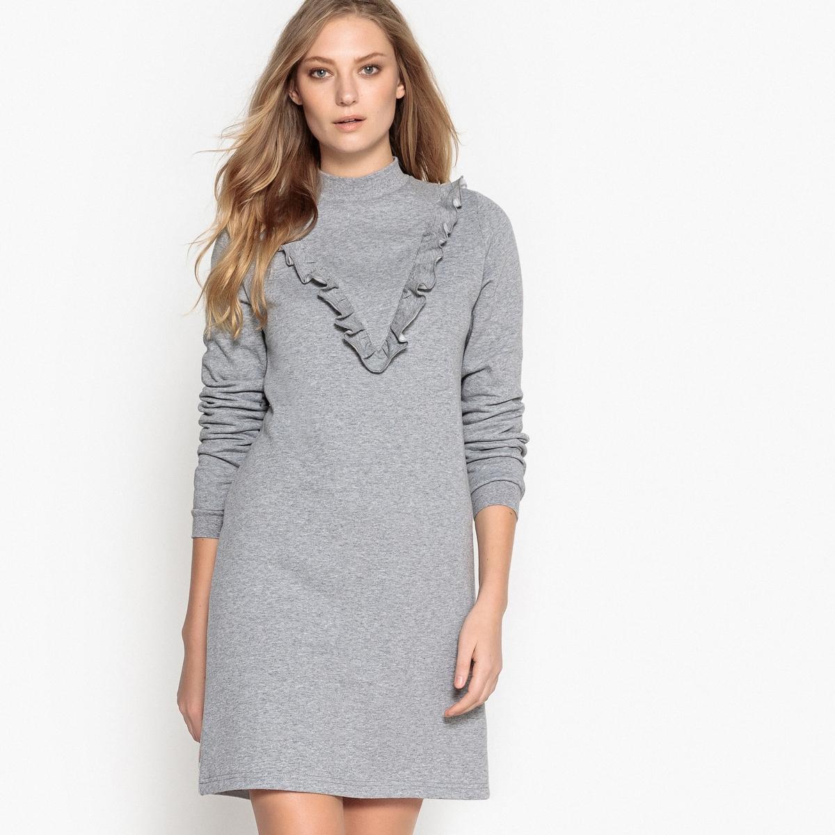 Платье-свитшот, с воланом спереди