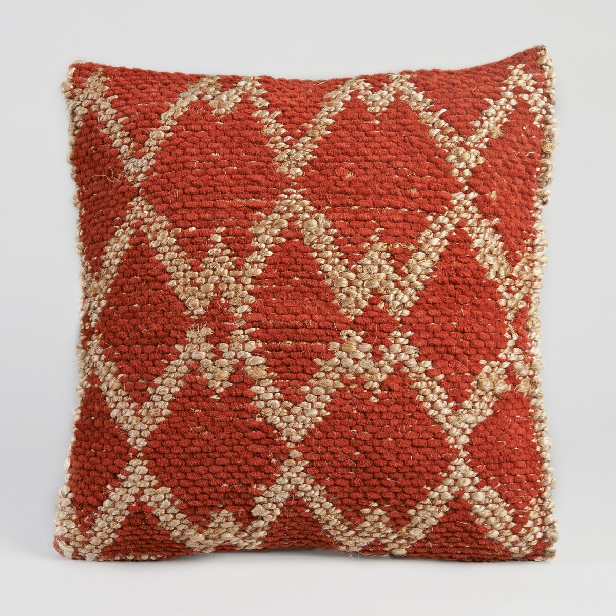 Чехол для подушки MaporeЧехол для подушки с этническими рисунками.  Застежка на молнию.Материал :- Лицевая сторона из джута, оборотная сторона из 100% хлопка.  Размер :- 50 x 50 см.<br><br>Цвет: красно-коричневый
