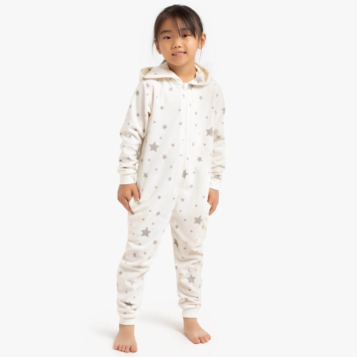 Пижама LaRedoute Цельная с длинными рукавами с капюшоном 3-12 лет 4 года - 102 см бежевый блузка laredoute с длинными рукавами и отделкой макраме 3 12 лет 4 года 102 см бежевый