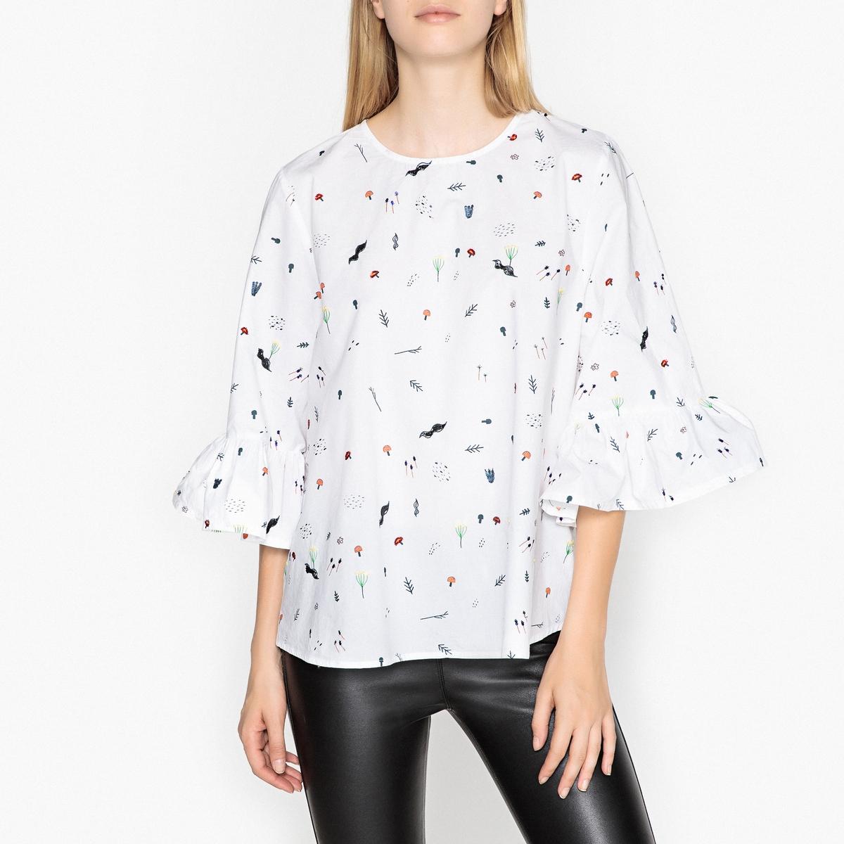Блуза с воланами RITBULL