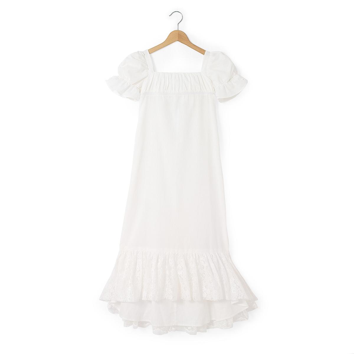 Платье длинное для торжества с вышивкой снизу 3-12 лет