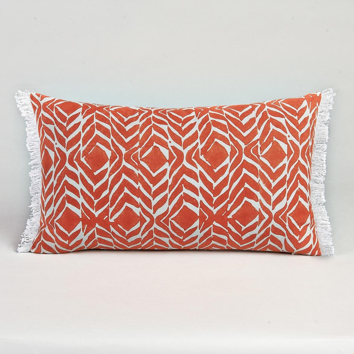 Чехол для подушки ZivotineЧехол для подушки с бахромой. Застежка на молнию Материал :- 100% хлопок.Размер :- 50 x 30 см.<br><br>Цвет: оранжевый<br>Размер: 50 x 30 см