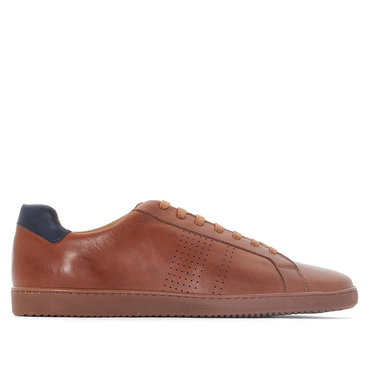 Кеды низкие кожаные на шнуровке