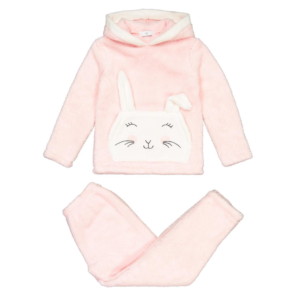 Pijama com capuz, em polar, 3-12 anos