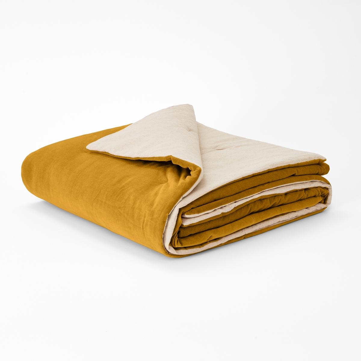 Перина La Redoute Из велюра VELVET 90 x 190 см желтый