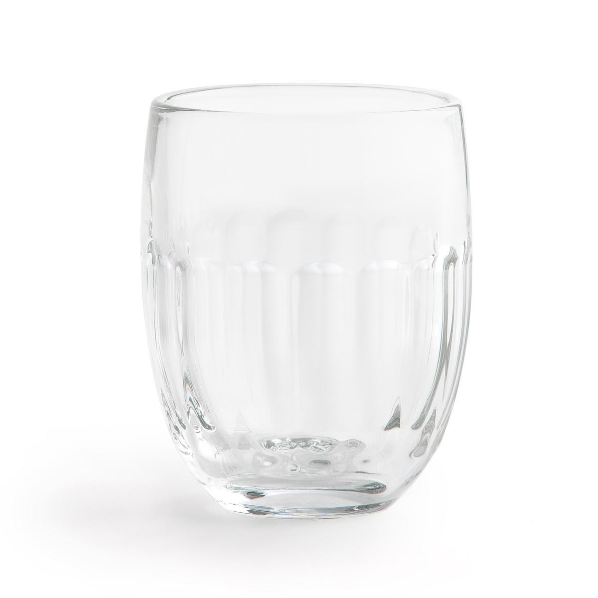 6 стаканов из стекла ALCHYSE6 стаканов Alchyse. Из прозрачного стекла . Подходят для использования в посудомоечной машине. Размеры : ?7 x H9,2 см . Емкость 30 cl.<br><br>Цвет: прозрачный