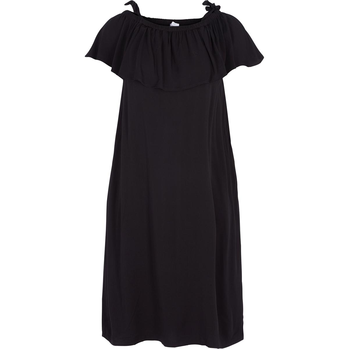ПлатьеПлатье ZIZZI. Платье с короткими рукавами и полукруглым вырезом. 100% вискоза<br><br>Цвет: черный<br>Размер: 46/48 (FR) - 52/54 (RUS)