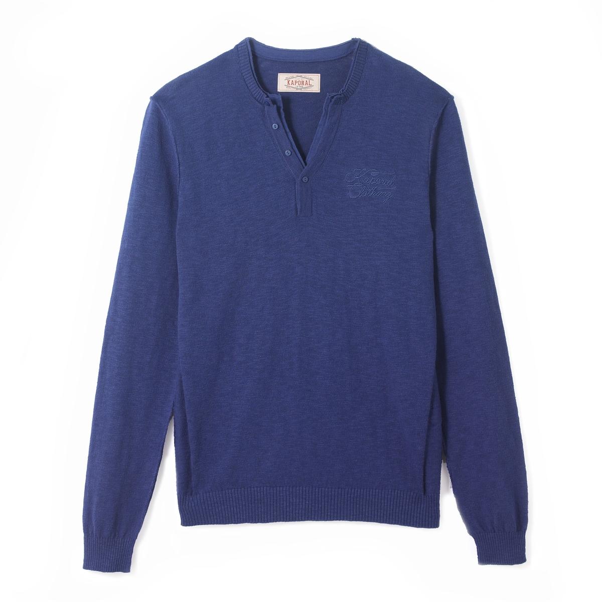 Пуловер с круглым вырезомСостав и описаниеМатериал: 100% хлопок.Марка:  KAPORAL.<br><br>Цвет: синий,черный<br>Размер: S.M.L