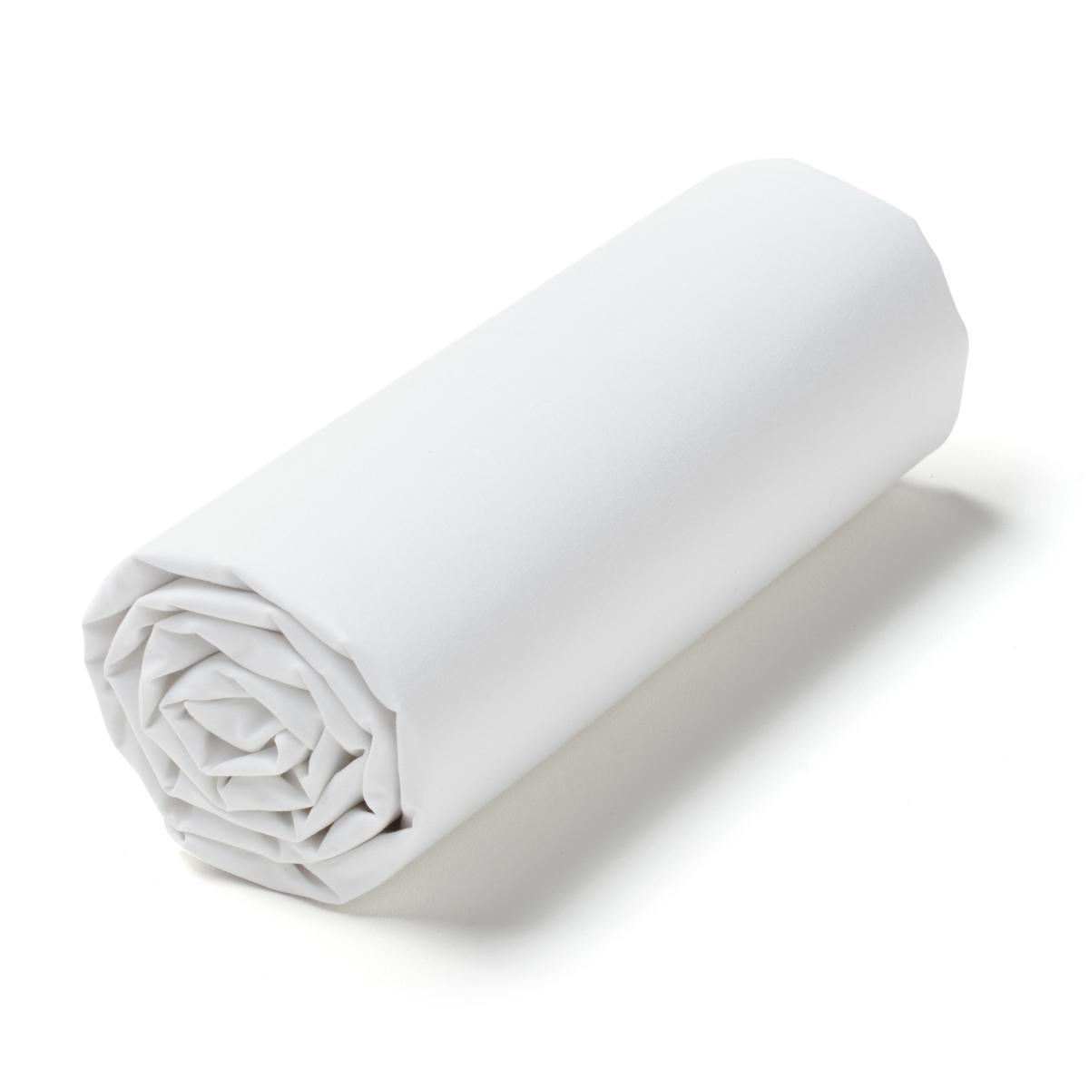 Простыня натяжная из перкали для наматрасника, Oph?lia<br><br>Цвет: белый,черный
