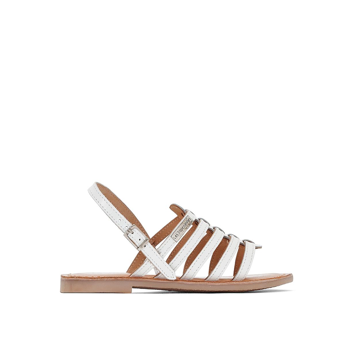 Сандали кожаные на плоской подошве Mangue сандали cristhalia сандали
