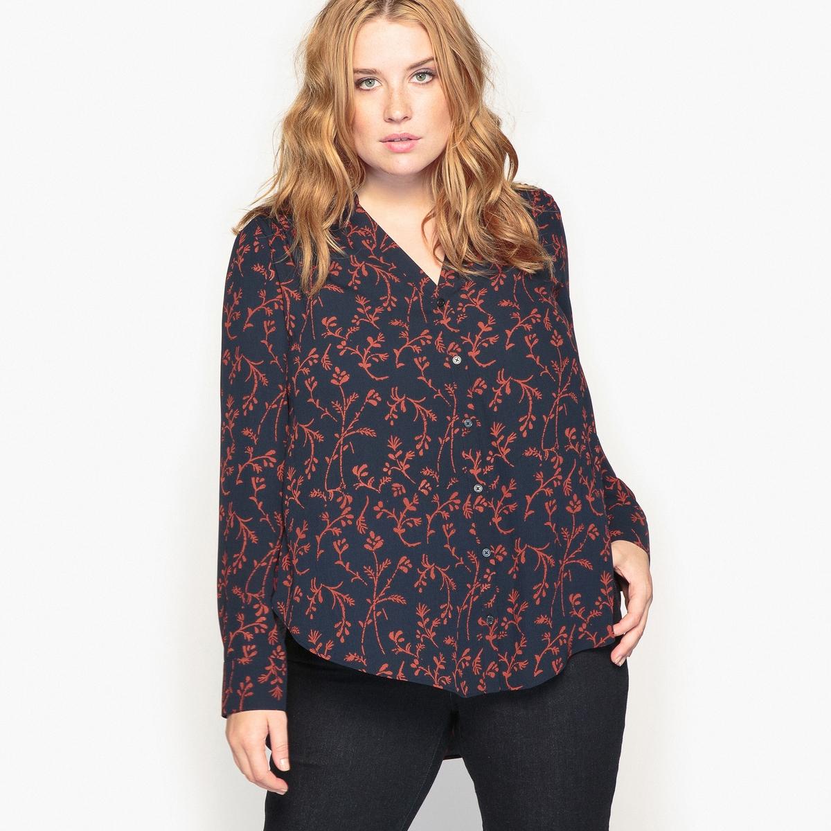 Рубашка с цветочным рисунком платок с цветочным рисунком