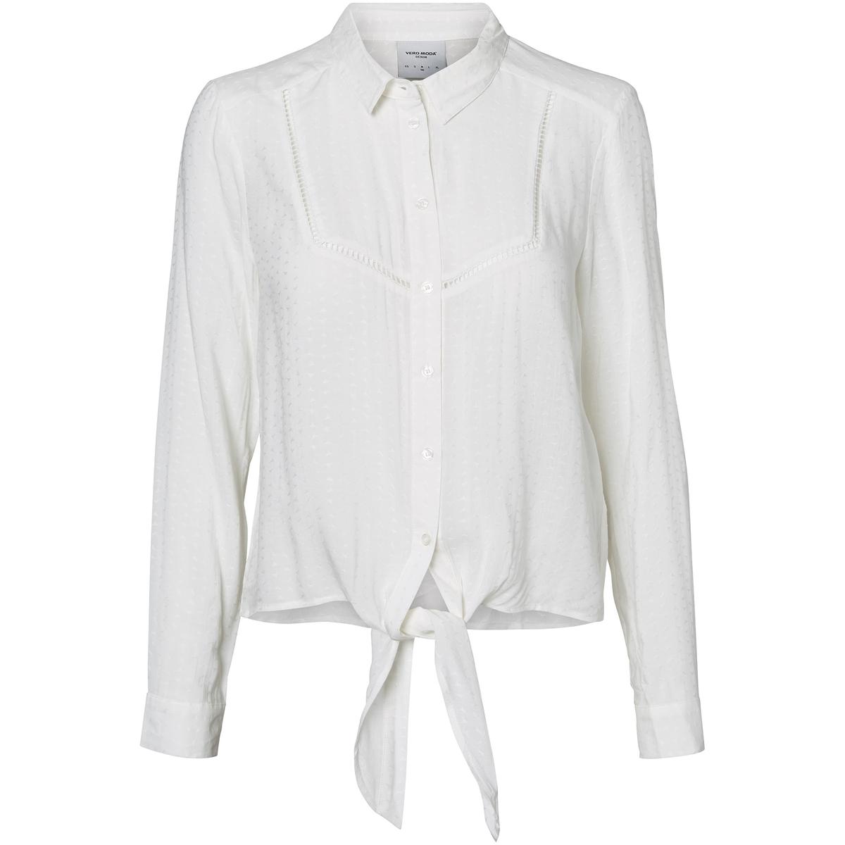 Блузка с длинными рукавами, пояс с завязками