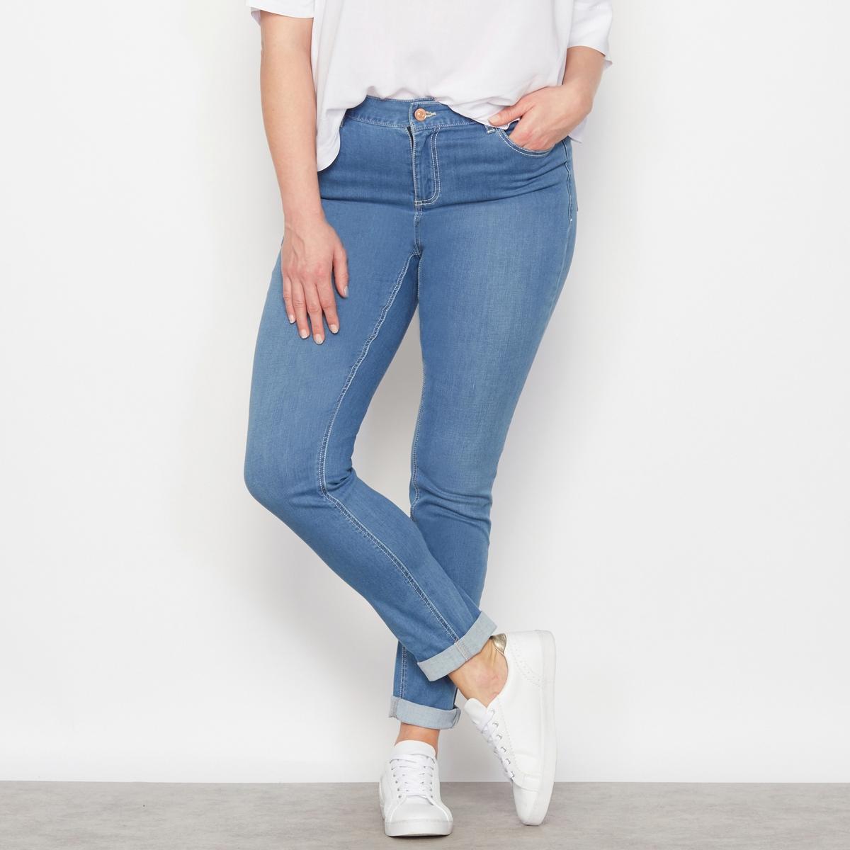 Джинсы Утончённый силуэт, длина по внутр. шву. 78 см.Джинсы стрейчевые зауженные Утончённый силуэт, по внутр. шву. 78 см. Из денима стрейч, 98% хлопка, 2% эластана. У вас небольшой рост, узкие бёдра и прямая фигура: эти джинсы буткат сами приспособятся к особенностям вашей фигуры, чтобы сделать вас неотразимой! Брючины заужены к низу. 5 карманов.Рост от  1м65 : длина по внутреннему шву 78 см, ширина по низу 15,5 см.<br><br>Цвет: голубой потертый,синий потертый,темно-синий,черный<br>Размер: 42 (FR) - 48 (RUS).44 (FR) - 50 (RUS).46 (FR) - 52 (RUS).54 (FR) - 60 (RUS).56 (FR) - 62 (RUS).58 (FR) - 64 (RUS).44 (FR) - 50 (RUS).58 (FR) - 64 (RUS).44 (FR) - 50 (RUS).48 (FR) - 54 (RUS).52 (FR) - 58 (RUS).44 (FR) - 50 (RUS).52 (FR) - 58 (RUS).54 (FR) - 60 (RUS)