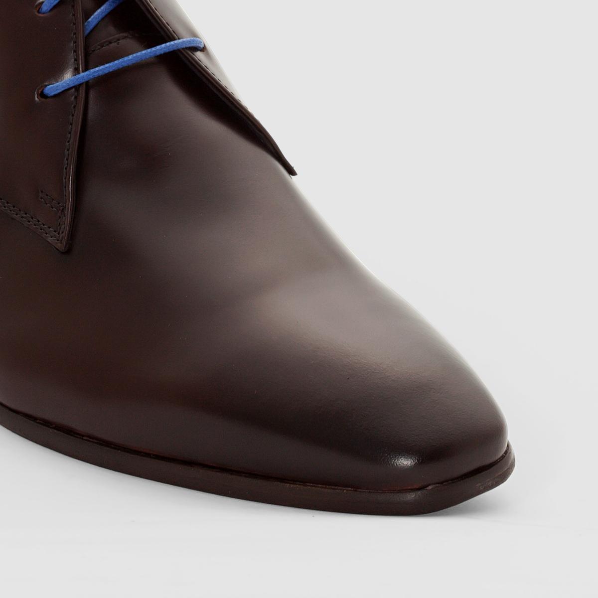 Ботинки на шнуровке JavoyВерх/ Голенище :        телячья кожа    Подкладка : кожа и текстиль   Стелька : кожа.    Подошва : из эластомера    Застежка : Шнуровка<br><br>Цвет: темный каштан<br>Размер: 41