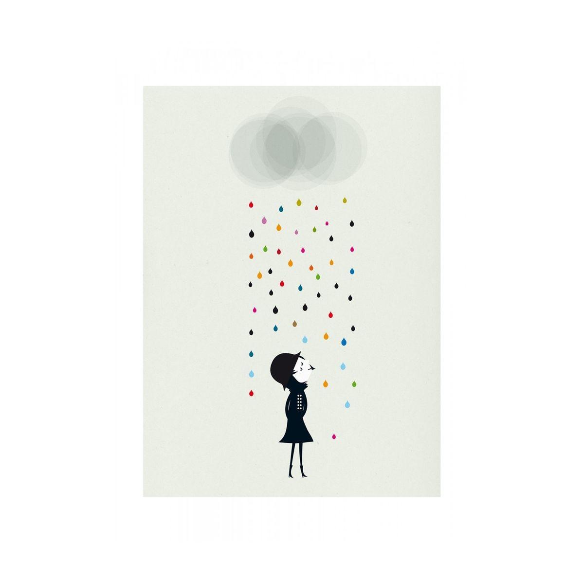 Affiche Mademoiselle sous la Pluie Blanca Gomez