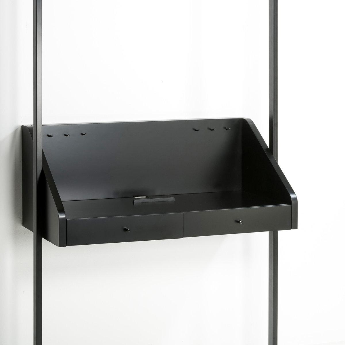Трюмо Kyriel для гардеробнойТрюмо для размещения в гардеробной Kyriel. Гардеробная от Kyriel - это модулируемая при желании эстетичная и практичная мебельная система, созданная с учетом любых пространств и стилей .Характеристики : - МДФ, отделка полиуретановым лаком матового или блестящего цвета- Крепится на стену с помощью входящего в комплект крепления - Вы также можете закрепить трюмо на стойках Kyriel  с помощью уголковых кронштейнов Taktik, продающихся на нашем сайте .Размеры : - 110 x 45 x 45,5 см . Доставка:Доставка будет осуществлена до вашей квартиры  ! Внимание ! Убедитесь, что товар возможно доставить на дом, учитывая его габариты (проходит в двери, по лестницам, в лифты).<br><br>Цвет: черный