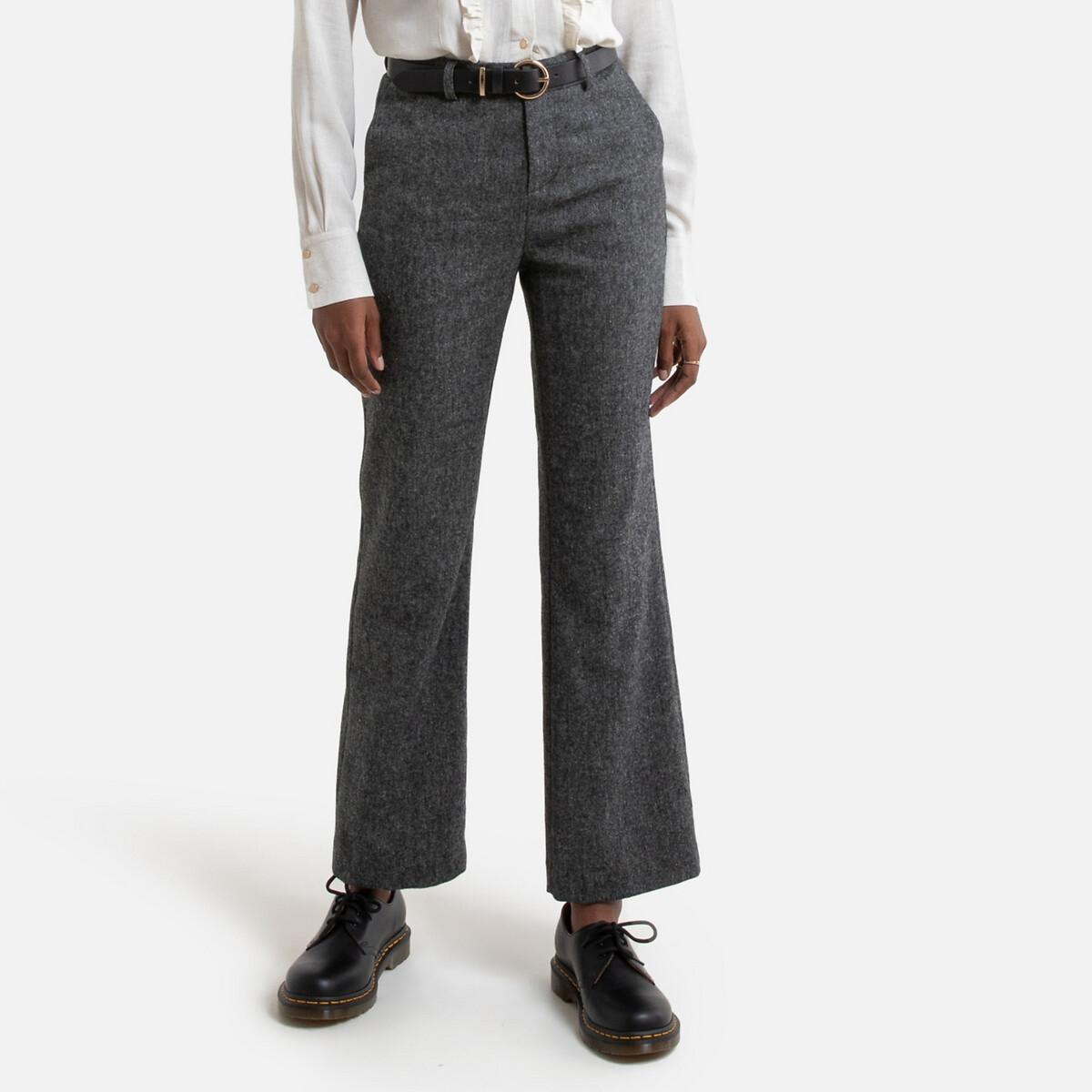 Фото - Брюки LaRedoute Прямые 38 (FR) - 44 (RUS) серый джинсы laredoute прямые 40 fr 46 rus синий