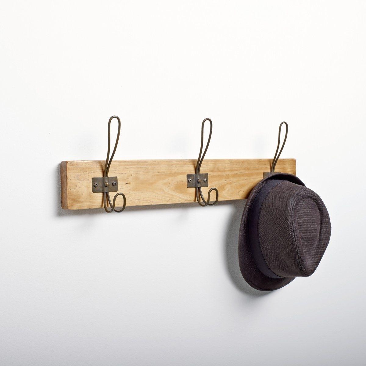 Вешалка настеннаяХарактеристики настенной вешалки :- Каркас : из гельвеи  3 металлических крючка .Размеры настенной вешалки :Ш.57,5 x В.17,5 x Г.8 см.<br><br>Цвет: светлое дерево медовый,темно-бежевый<br>Размер: единый размер