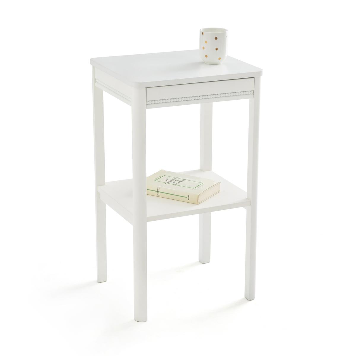 Столик LaRedoute Ночной PERLE единый размер белый