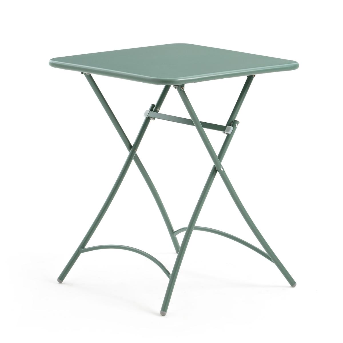 Столик La Redoute Складной металлический Malmo единый размер зеленый