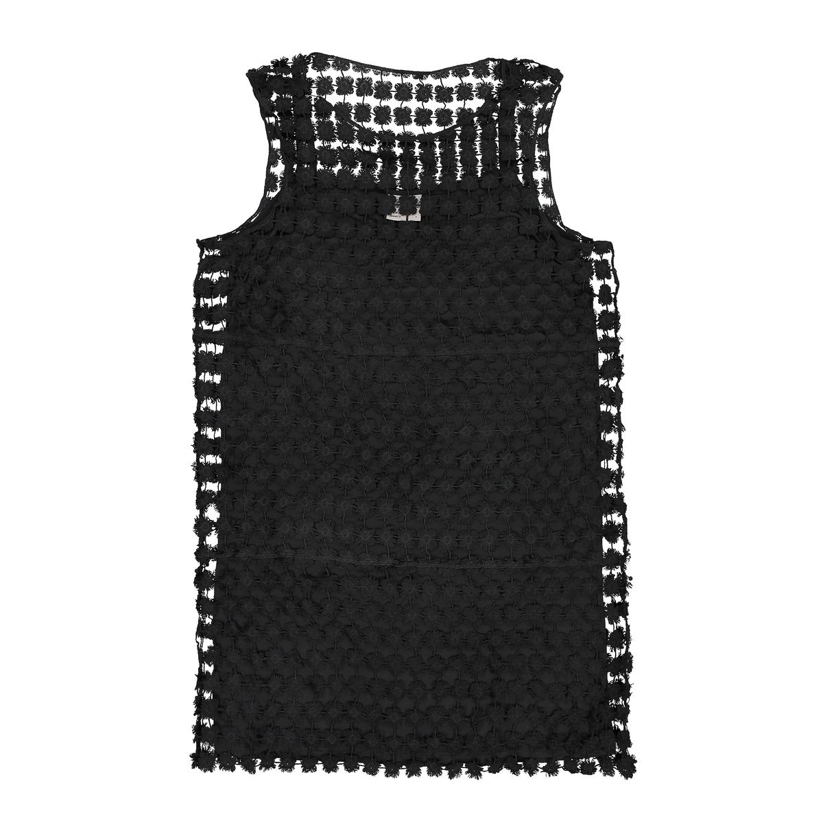 Платье ажурное на подкладкеДетали   •  Форма : средняя •  короткое  •  Тонкие бретели     •  Без воротника Состав и уход   •  100% полиэстер  •  Просьба следовать советам по уходу, указанным на этикетке изделия<br><br>Цвет: коралловый,черный<br>Размер: L.XL.L.M