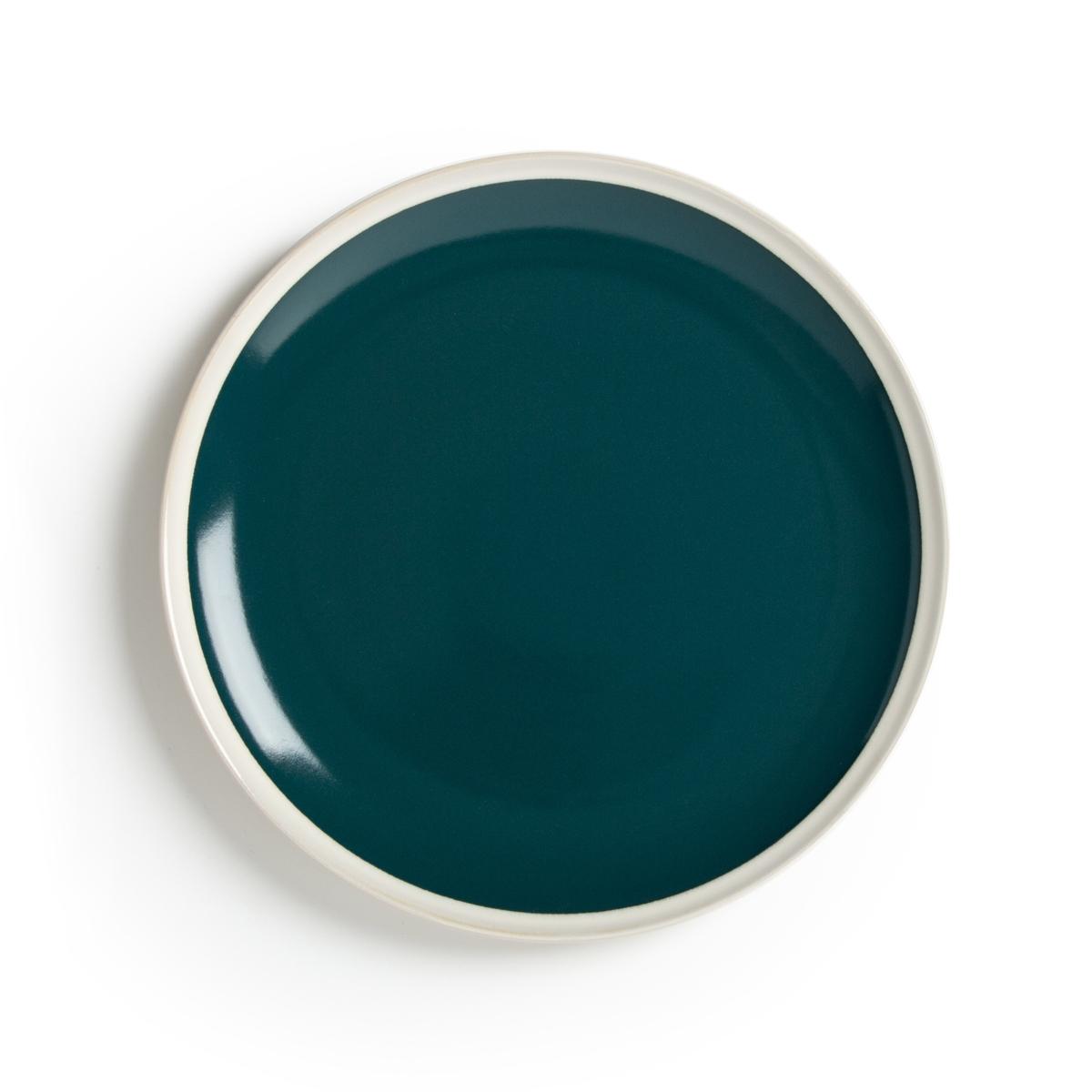 Комплект из плоских тарелок La Redoute Из керамики DEONIE единый размер зеленый чашки la redoute из керамики shima единый размер зеленый