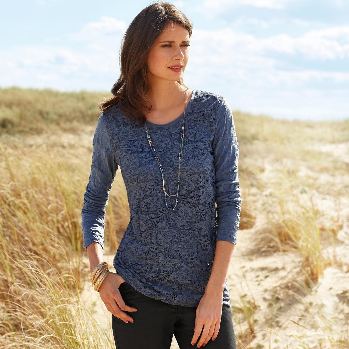 Imagen secundaria de producto de Camiseta, punto arrugado y encaje - Anne weyburn