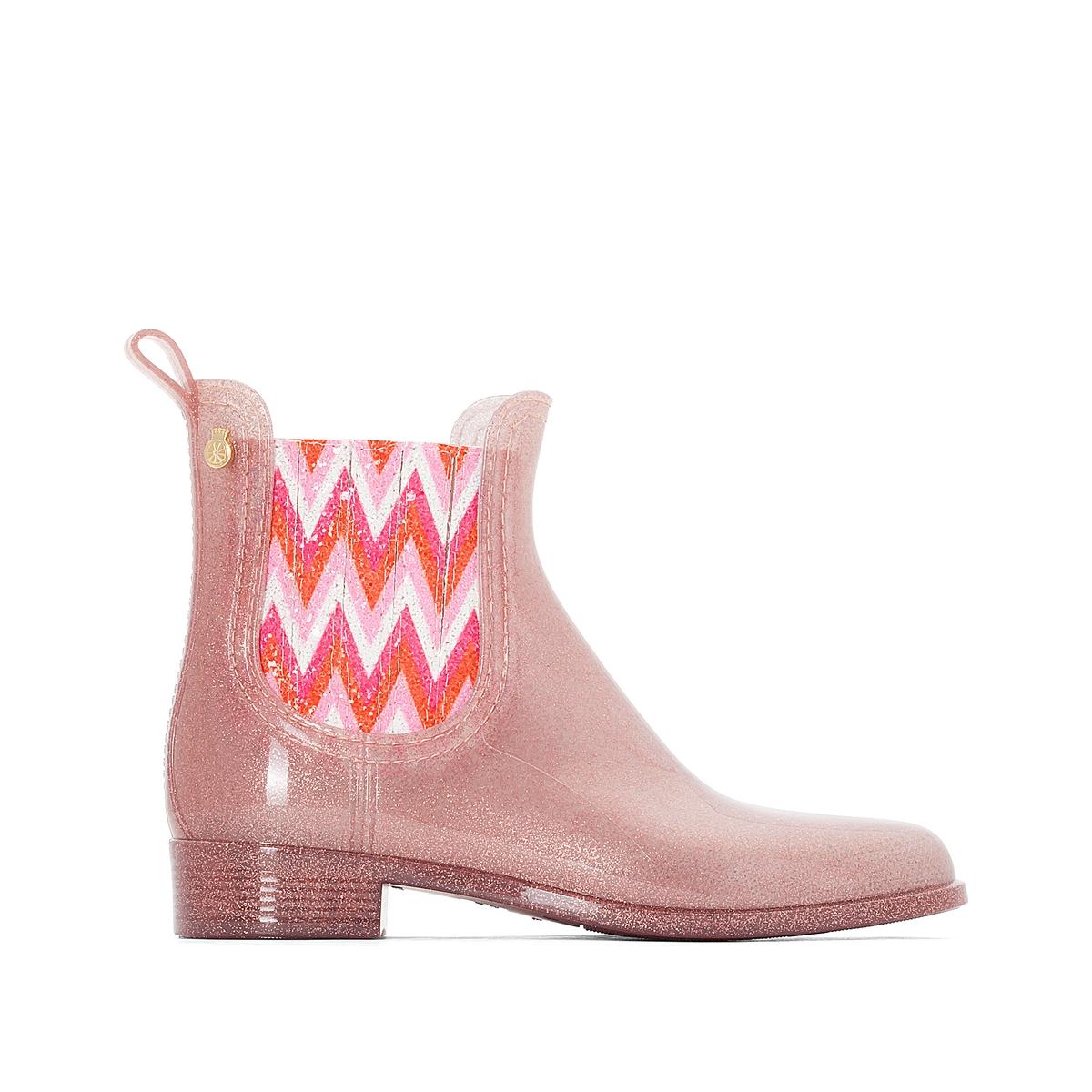 Сапоги резиновые HarperВерх : каучук   Подкладка : полиамид   Стелька : синтетика   Подошва : каучук   Высота каблука : 2 см   Форма каблука : плоский каблук   Мысок : закругленный мысок   Застежка : без застежки<br><br>Цвет: розовый