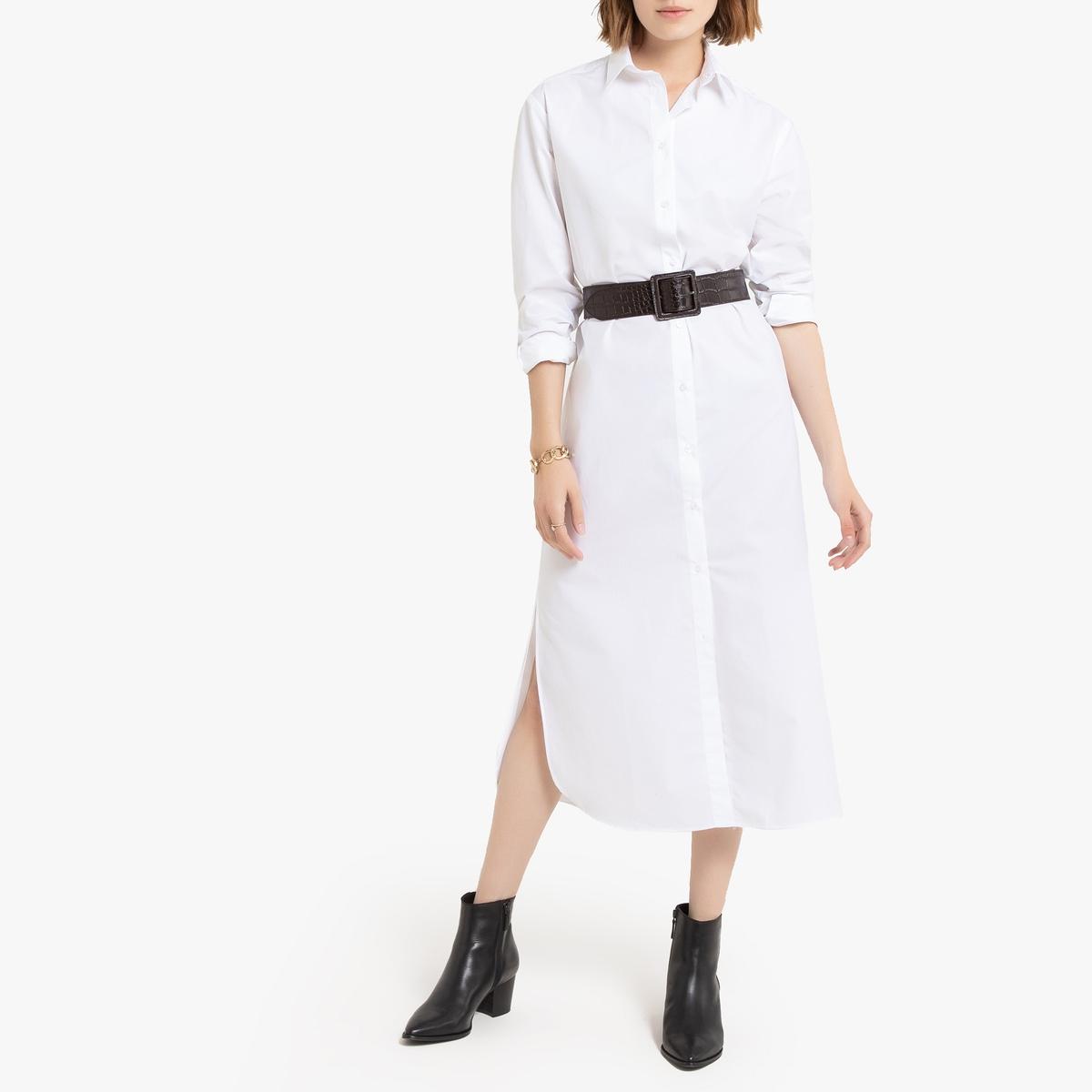 Vestido-camisa de mangas compridas