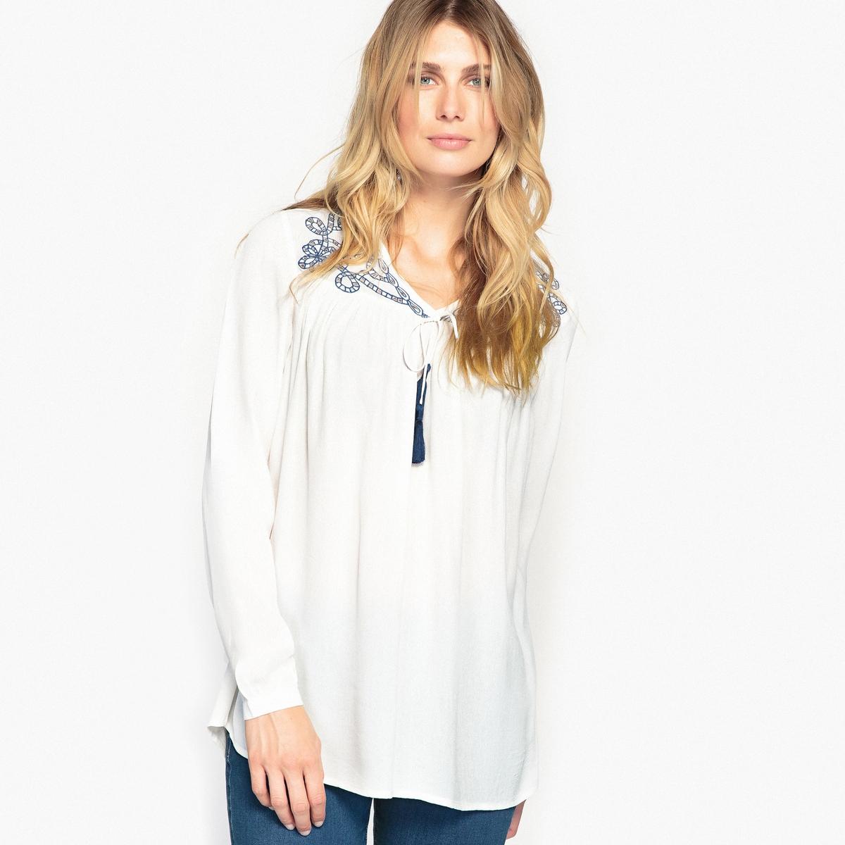 Блузка с вышивкой solo1 с