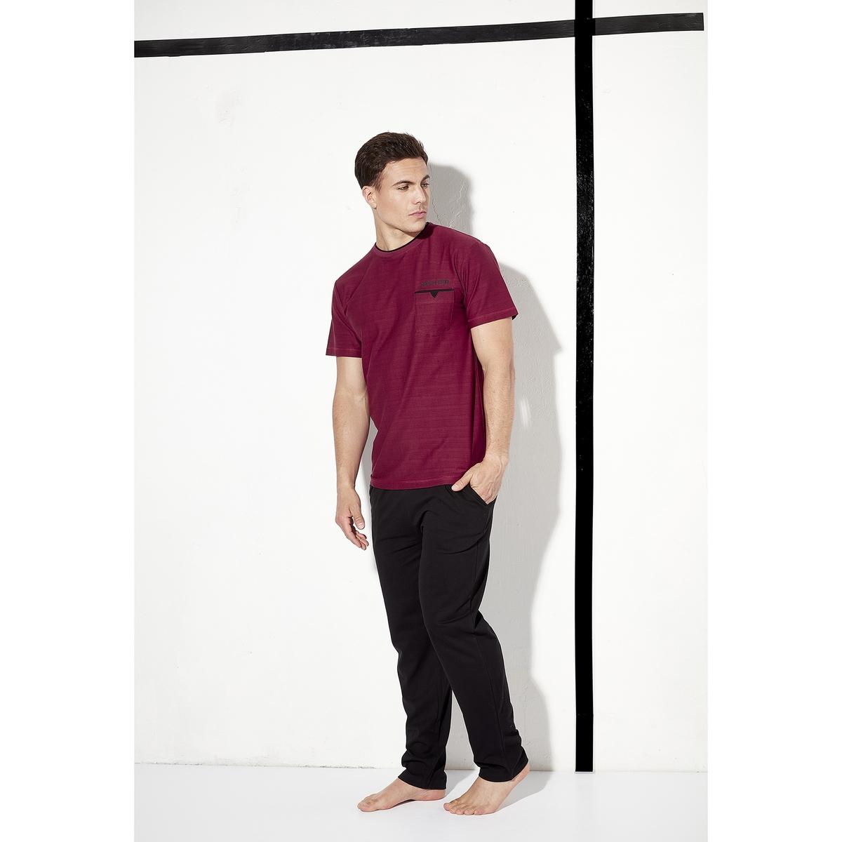 Пижама La Redoute С короткими рукавами Hechter for ever XL красный кардиган daniel hechter