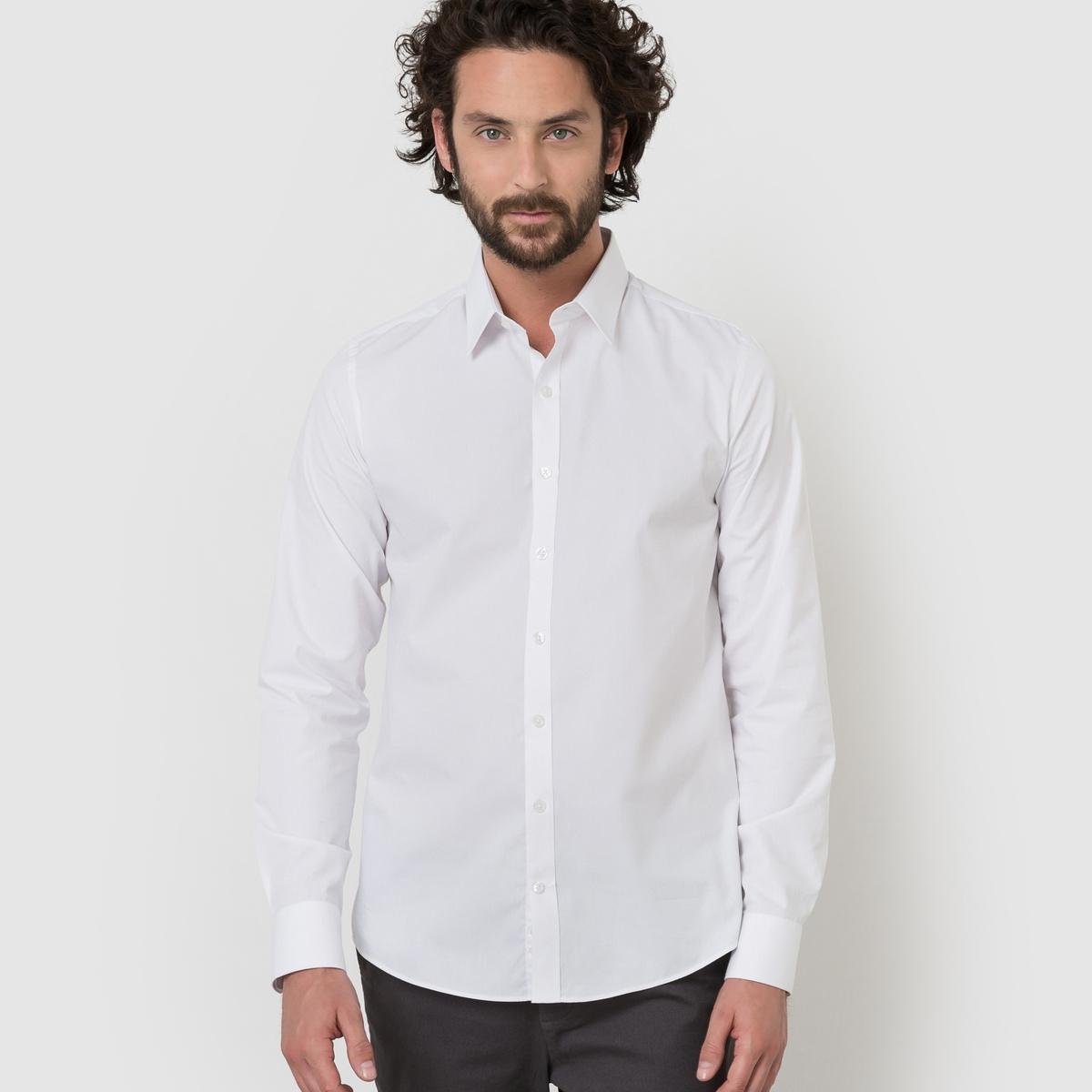 Рубашка однотонная узкого покроя от La Redoute