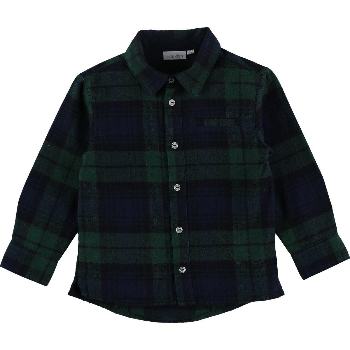 Chemise verte à carreaux