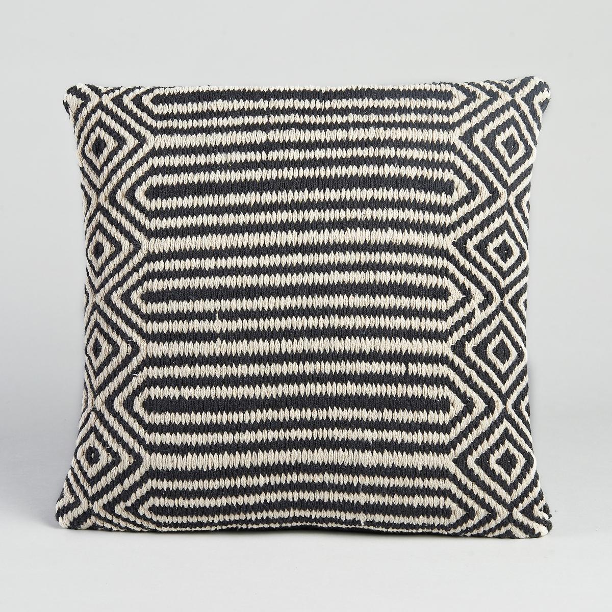 Чехол для подушки Kilim, Pa?enЧехол для подушки Pa?en. Черно-белое плетение. Верх из 100% хлопка, спинка из канвы, 100% хлопок. Застёжка на скрытую молнию сзади. Размеры. : 45 x 45 см. Подушка продается отдельно.<br><br>Цвет: черный/ белый