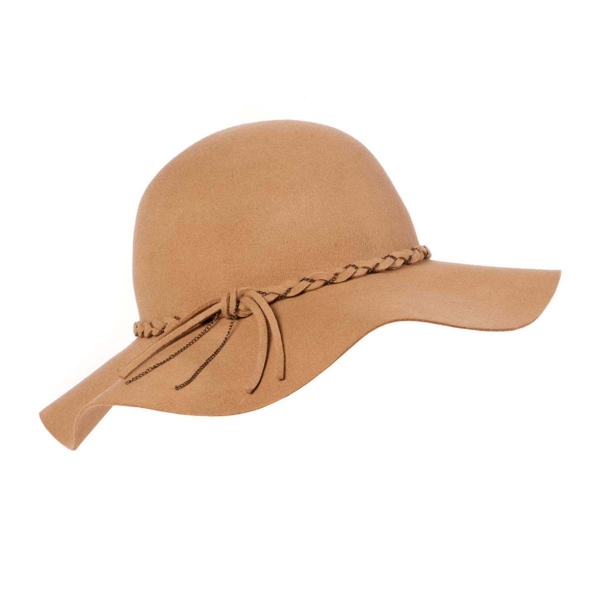 Шляпа из фетраМодная женская шляпа, которая защищает от солнца и одновременно придает стиля. Состав и описание :  •  Материал : фетр •  Марка :  Atelier R.  •  Размер : единый<br><br>Цвет: темно-бежевый,черный<br>Размер: единый размер