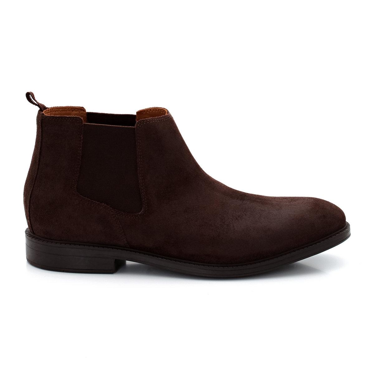 Ботинки кожаные в стиле челси CLARKS Chilver TopПреимущества: кожаные ботинки CLARKS в стиле челси покорят Вас своим комфортом!<br><br>Цвет: темный каштан<br>Размер: 42