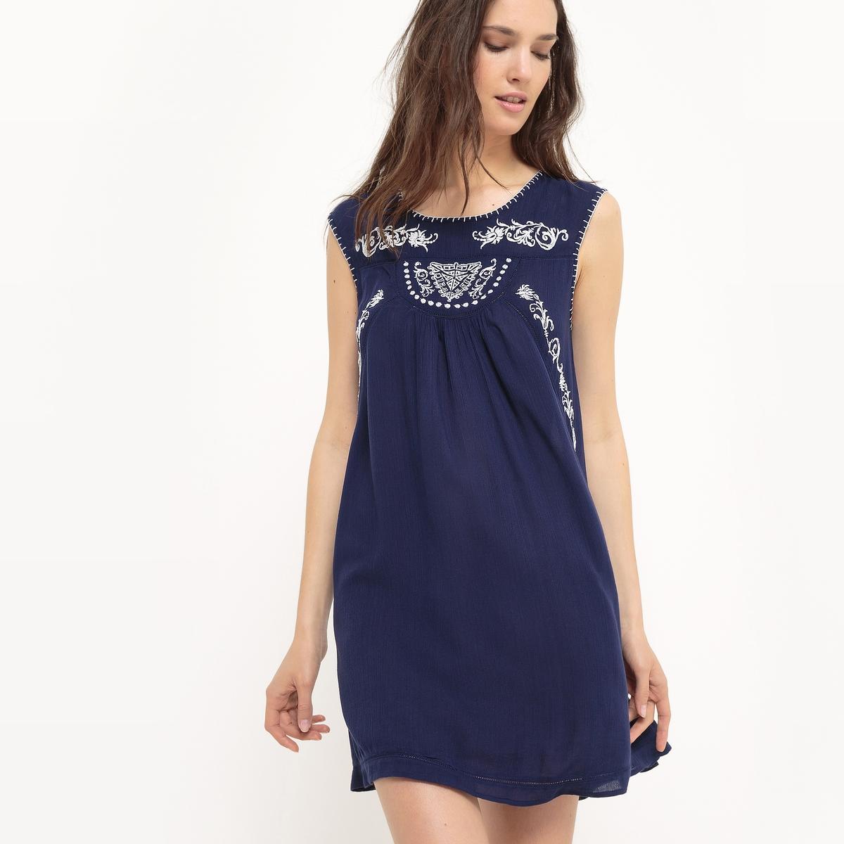 Платье короткое, без рукавов, однотонное короткое платье без рукавов dolce