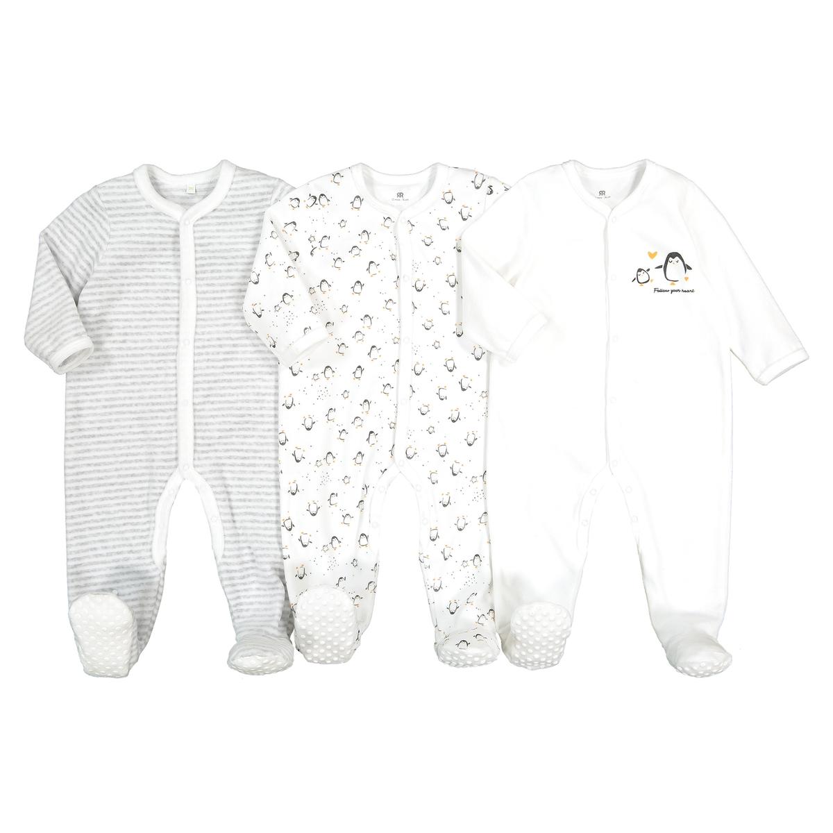 где купить Пижамы La Redoute Из велюра рожденные раньше срока - 45 см белый дешево