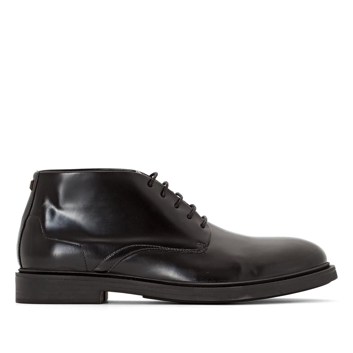 Ботильоны ALIOUПодкладка : Кожа и текстиль Стелька : текстиль.   Подошва : из эластомера.   Форма каблука : Плоский каблук   Носок : Закругленный.    Застежка : шнуровка.<br><br>Цвет: черный
