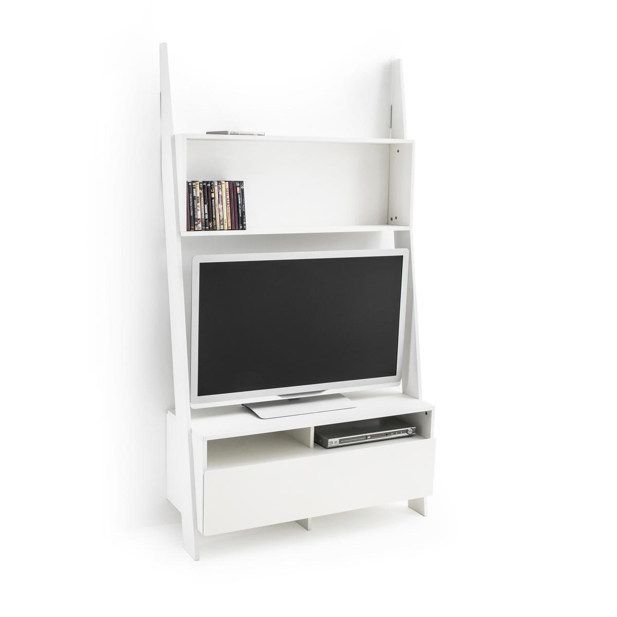 Тумба-лестница LaRedoute Для телевизора Domeno единый размер белый