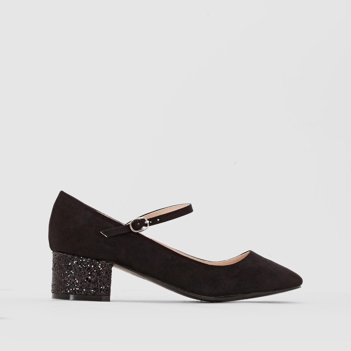 Туфли, каблук с блестками