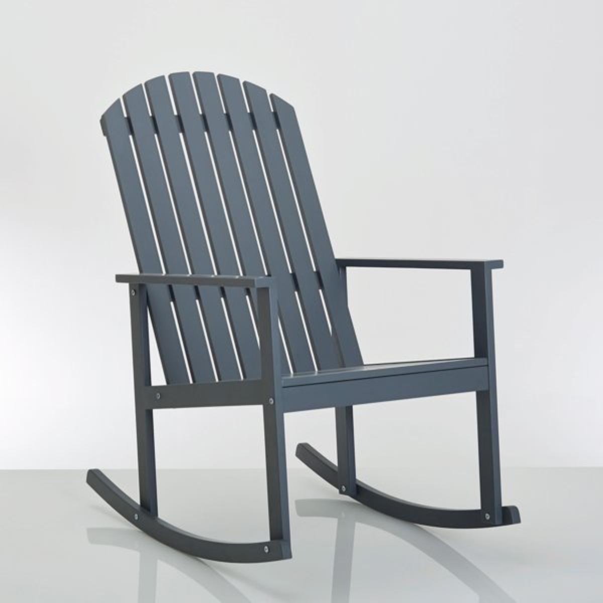 Кресло-качалка из эвкалиптового дерева с лейблом FSC