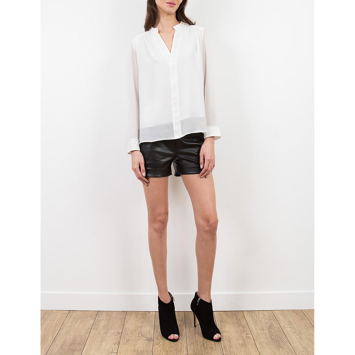 Блузка с длинными рукавами TASMANСостав и детали     материал: 98% полиэстера, 2% эластана     Марка     LENNY B.<br><br>Цвет: белый
