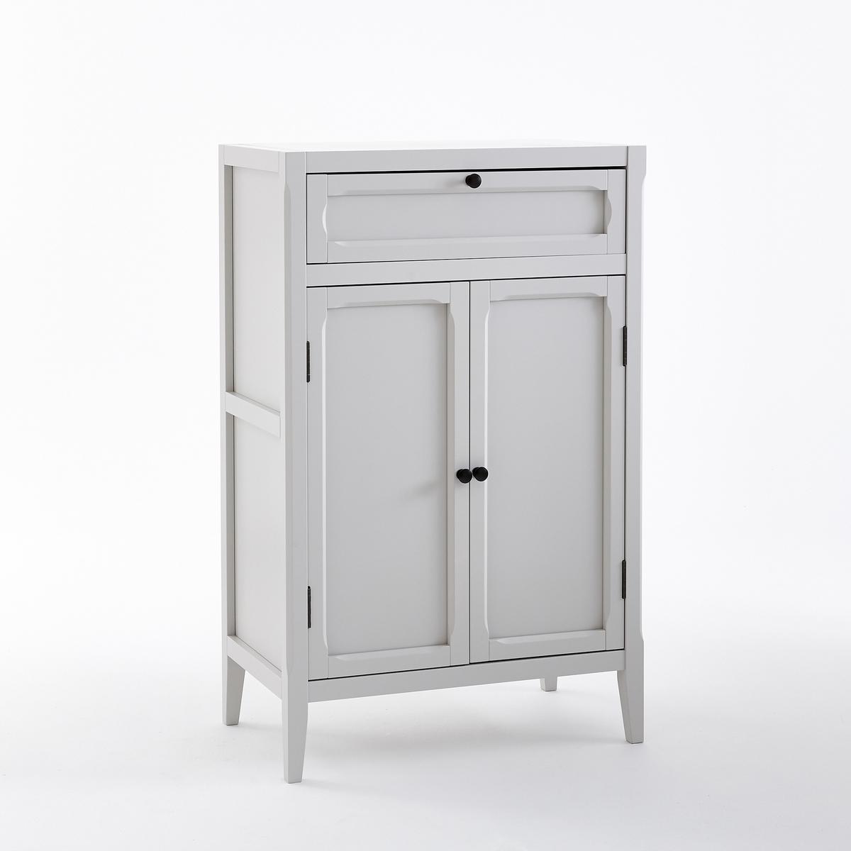 Шкаф LaRedoute Низкий с 2 дверцами и 1 ящиком Eugnie единый размер серый