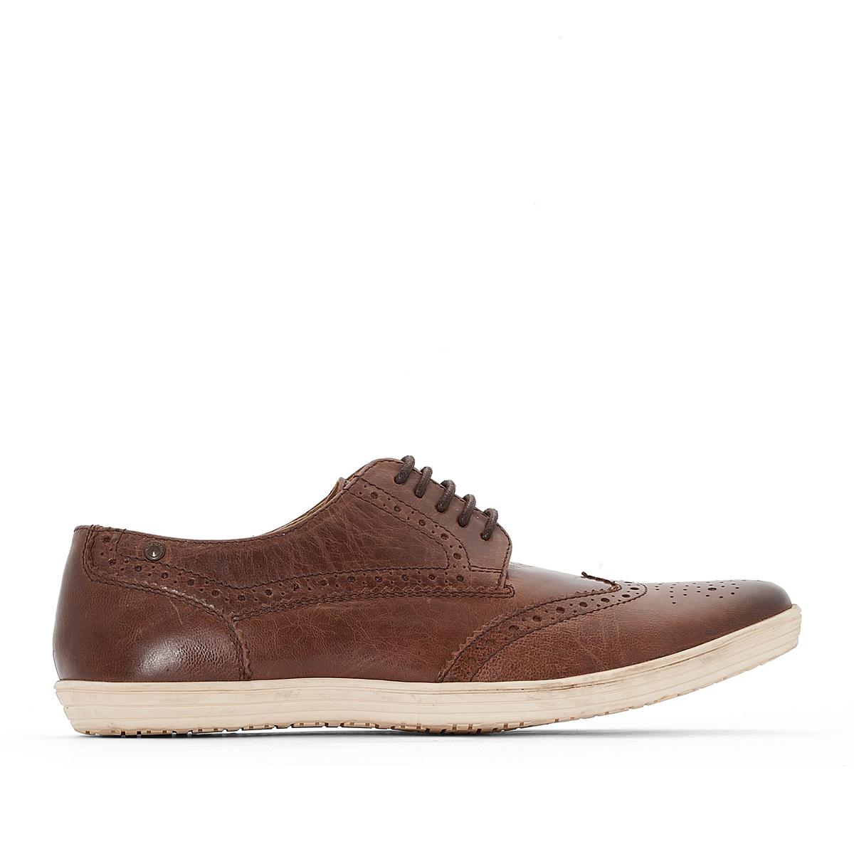 Ботинки-дерби кожаные на шнуровке Perform