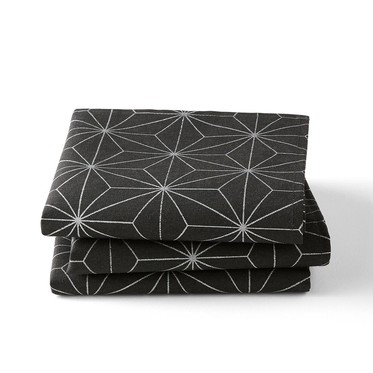 Комплект из салфеток с La Redoute Рисунком NORDIC STAR 45 x см серый