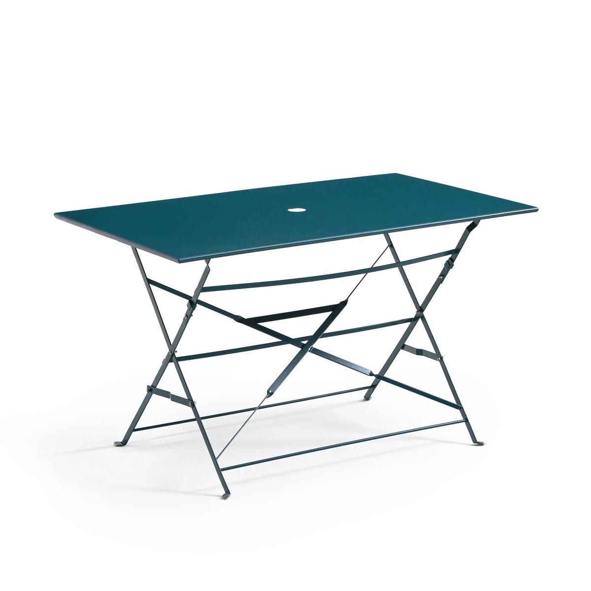 Стол LaRedoute Складной прямоугольной формы из металла OZEVAN единый размер синий