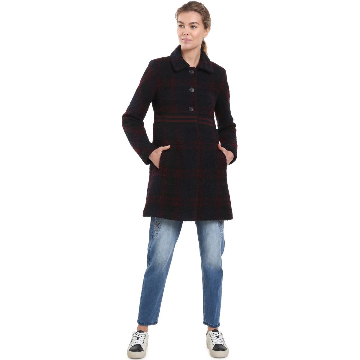Abrigo de lana mezclada a cuadros