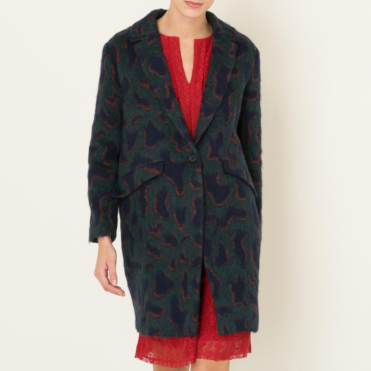 Пальто MELBAСостав и описание :Материал : 45% хлопка, 28% необработанной шерсти, 15% мохера, 12% полиамидаПодкладка 95% полиэстера, 5% эластанаПодкладка карманов 100% хлопокМарка : BA&amp;SH<br><br>Цвет: зеленый