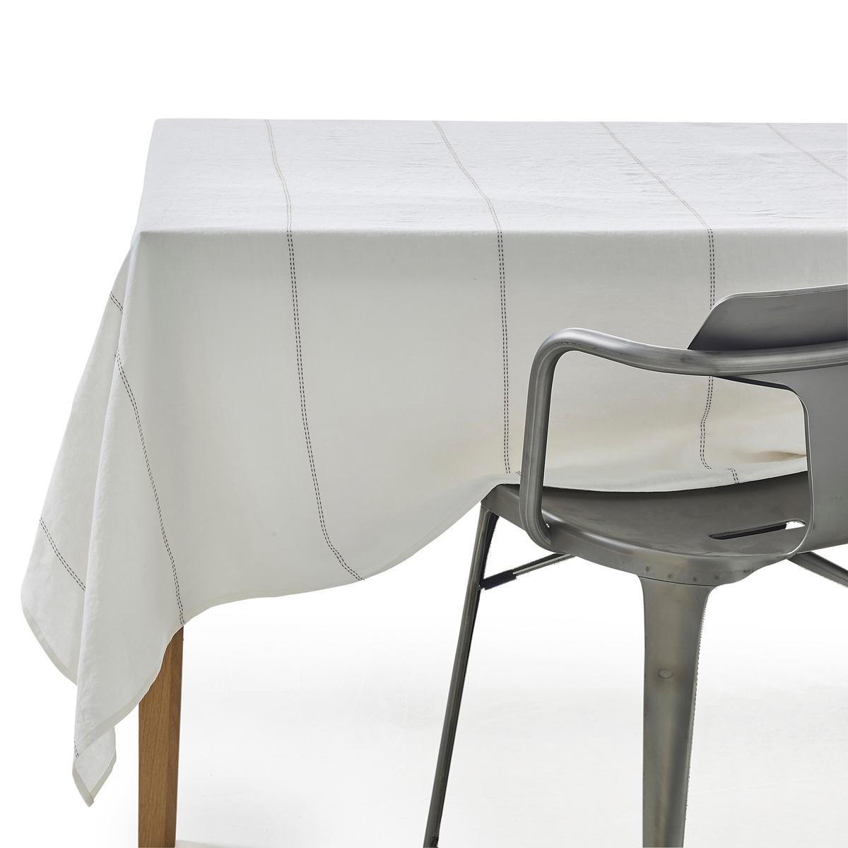 Скатерть 100% лен, SororalСкатерть Sororal. Элегантная и утонченная скатерть с красивым и простым рисунком в виде пунктирных линий. Произведенная во Франции из качественного сырья скатерть с тщательной отделкой добавит стиля вашему столу .Материал :- 100% лен- Подшитые края.- Машинная стирка при 40 °С - Произведено во ФранцииРазмеры : - 150 x 150 см- 150 x 200 см- 150 x 250 см<br><br>Цвет: оранжевый,серо-бежевый,черный
